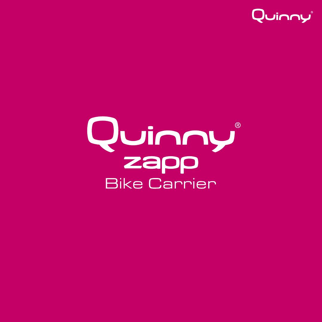 Super Handleiding Quinny Quinny Zapp Fietsdrager (pagina 1 van 21 JC-17