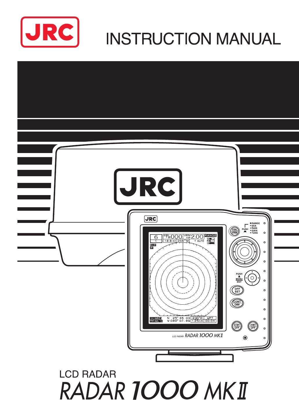 handleiding jrc radar1000 mkii pagina 1 van 49 english rh gebruikershandleiding com Radar Screen Chartplotter JRC Radar 1800