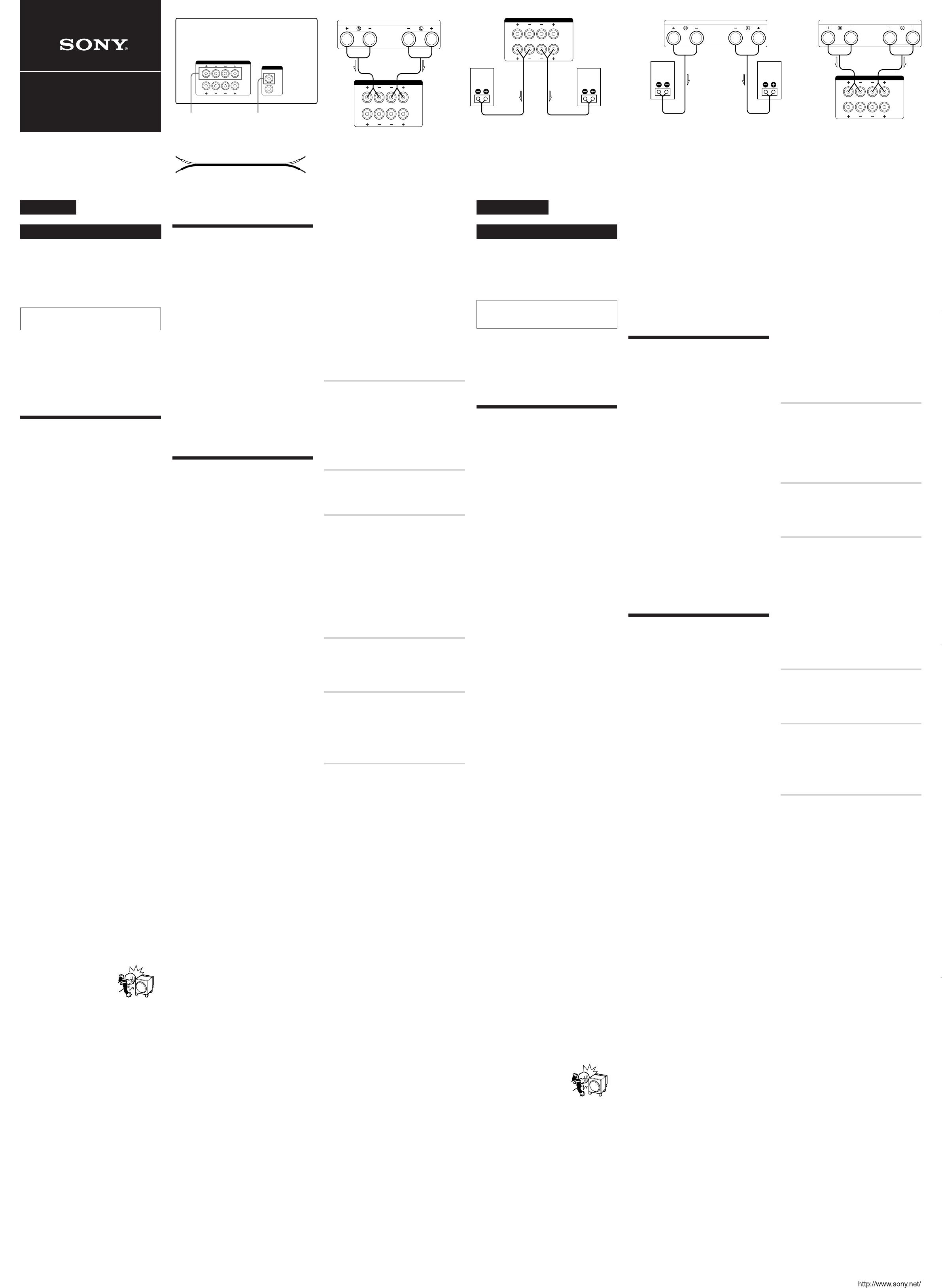 Handleiding Sony SA-WX900 (pagina 1 van 2) (Deutsch, Nederlands)