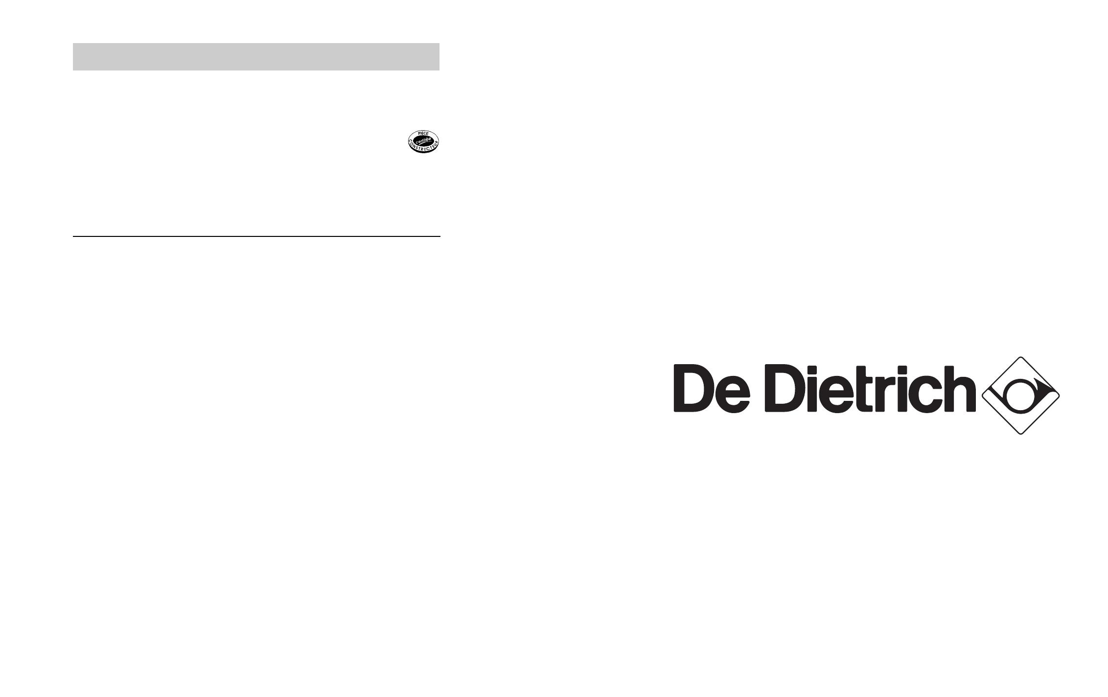 Handleiding De Dietrich Dcm 390 Xe1 Pagina 1 Van 6 English