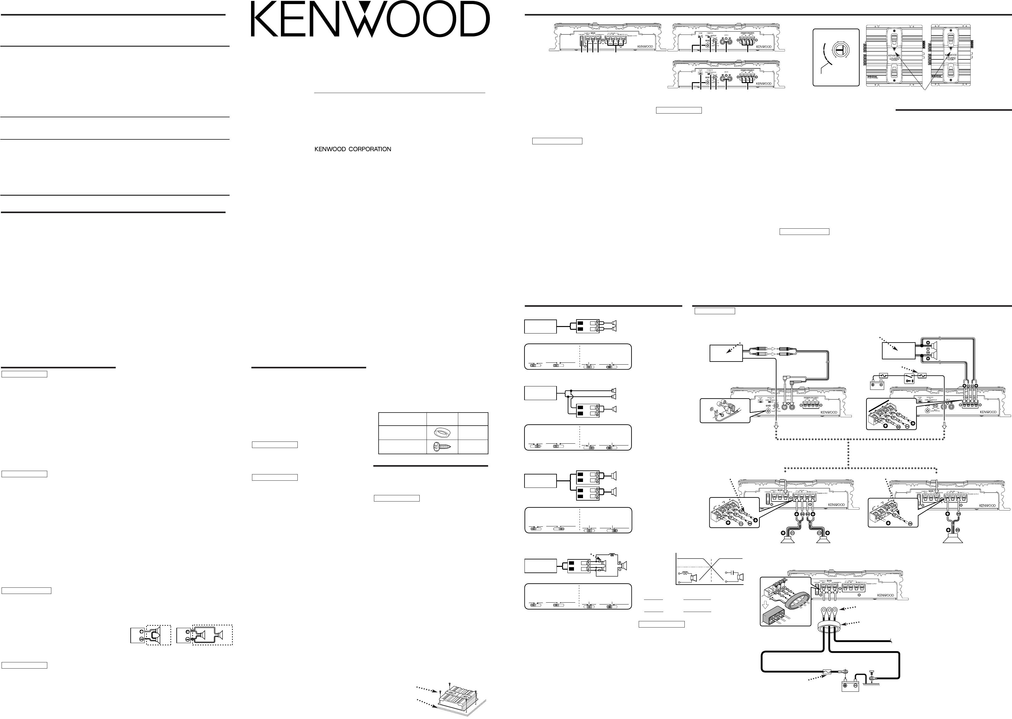 Handleiding Kenwood kac 5201 (pagina 1 van 2) (Deutsch, Nederlands)