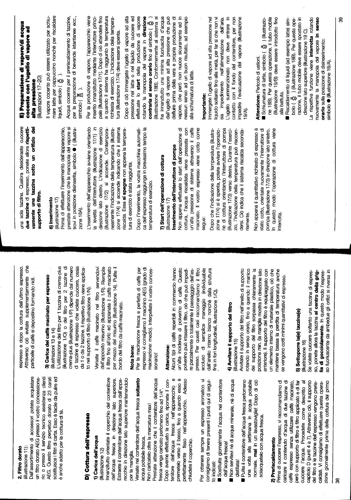 Schiumatura Ad Acqua.Handleiding Aeg Electrolux Kfea 100 Crema Pagina 9 Van 11
