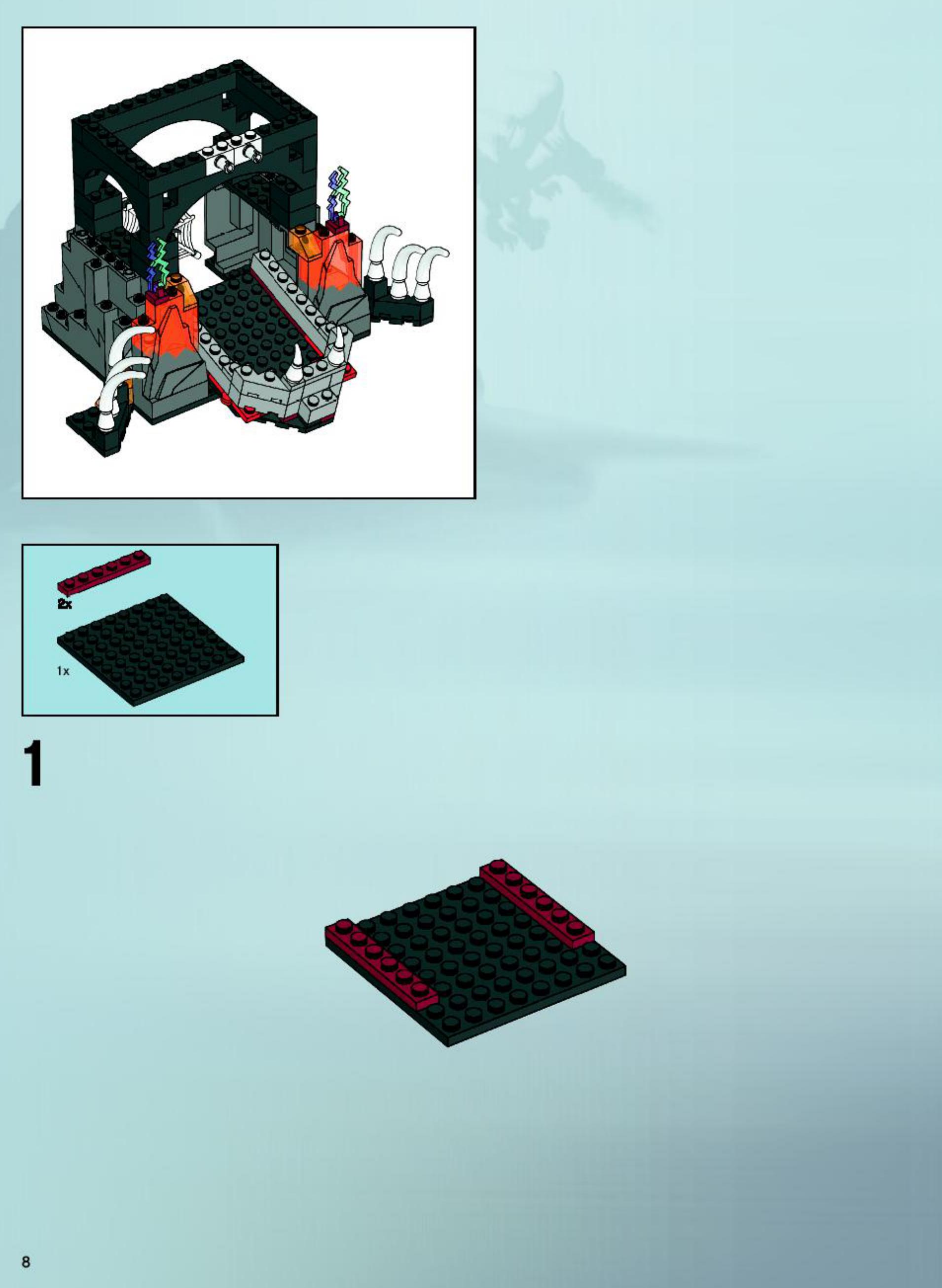 Handleiding Lego Castle Skeleton Tower 7093 Pagina 1 Van 76 Verder