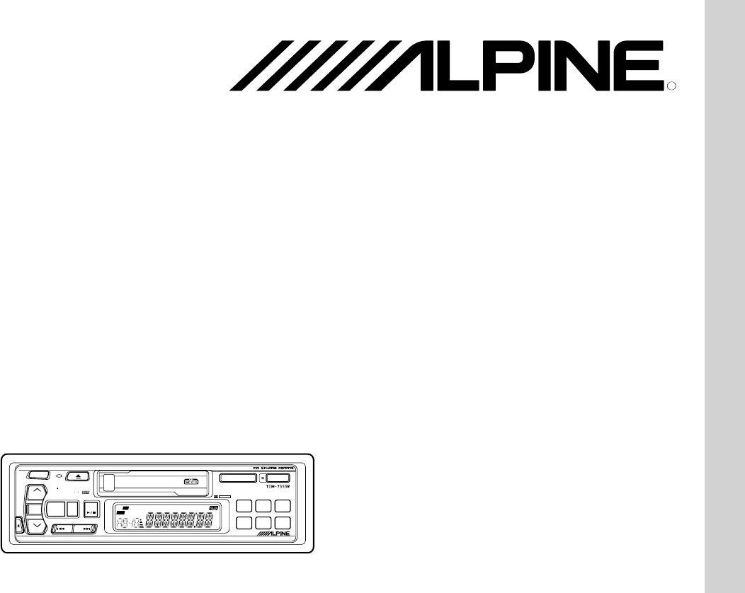 handleiding alpine tdm 7555 r  pagina 1 van 68   english