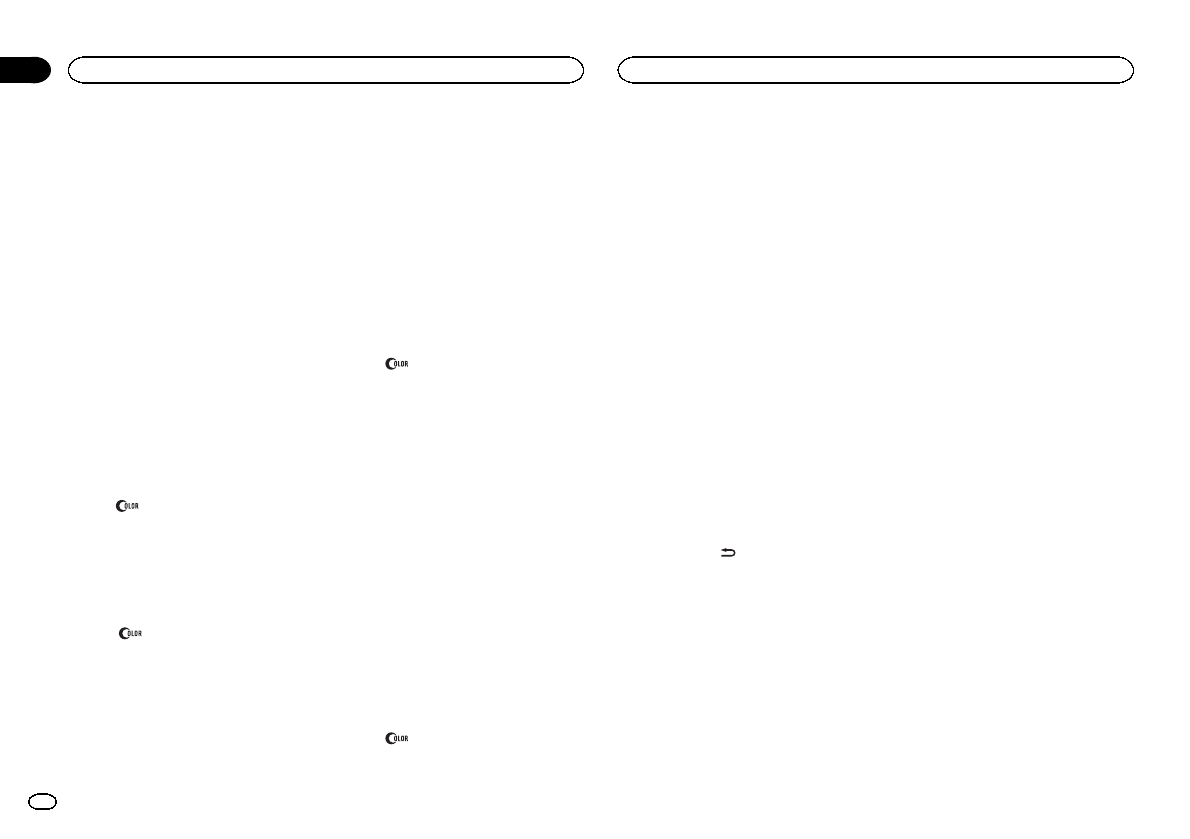 Handleiding Pioneer Deh 2400ub Pagina 9 Van 132 Deutsch English Wiring Diagram 2 Turn Mc To Display Key Color And