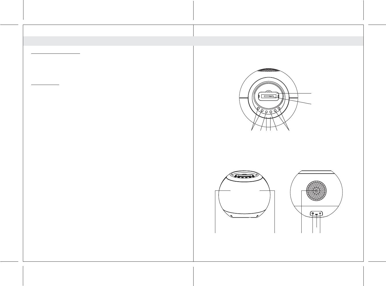 Handleiding Lenco Speakerball for iPod (pagina 4 van 34) (Deutsch, English,  Espanôl, Espanõl, Français, Nederlands)