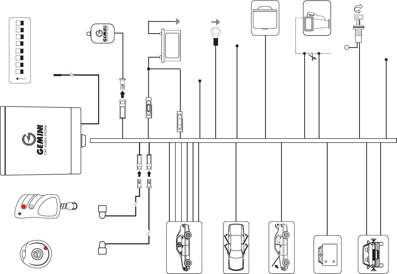 gemini car alarm wiring diagram