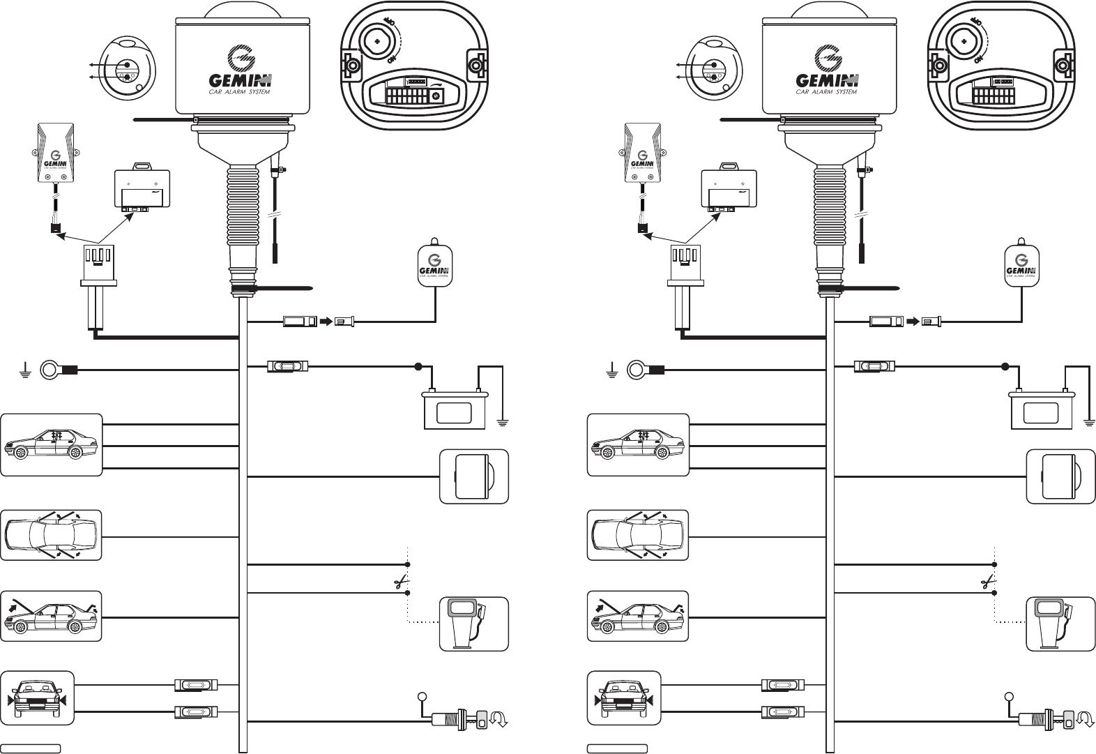 Gemini Car Alarm Wiring Diagram : Gemini panel wiring diagram library