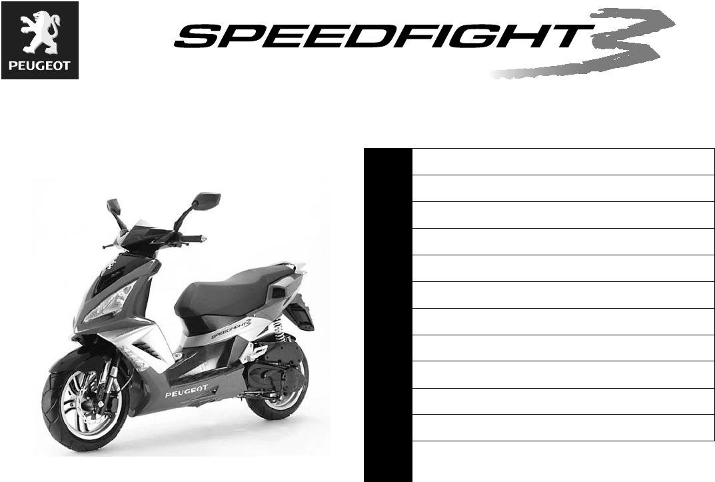 peugeot speedfight workshop manual pdf