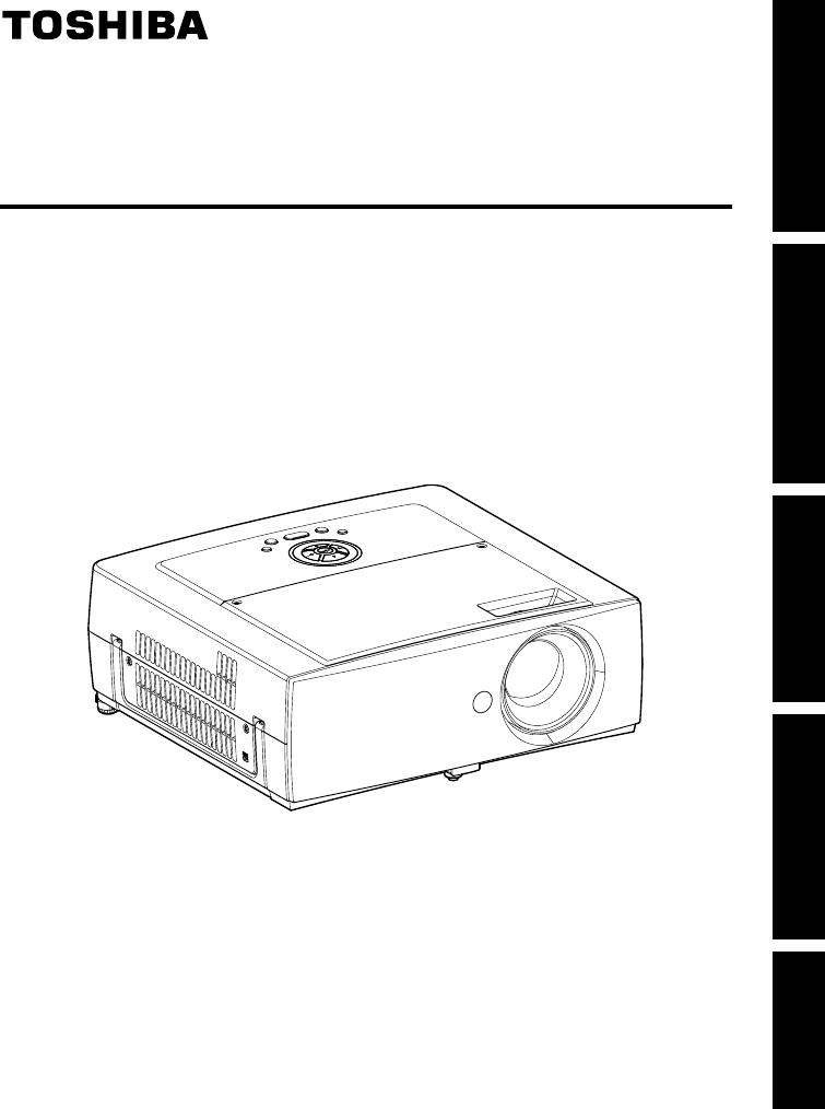 Handleiding Toshiba Tdp T355 Pagina 2 Van 31 English