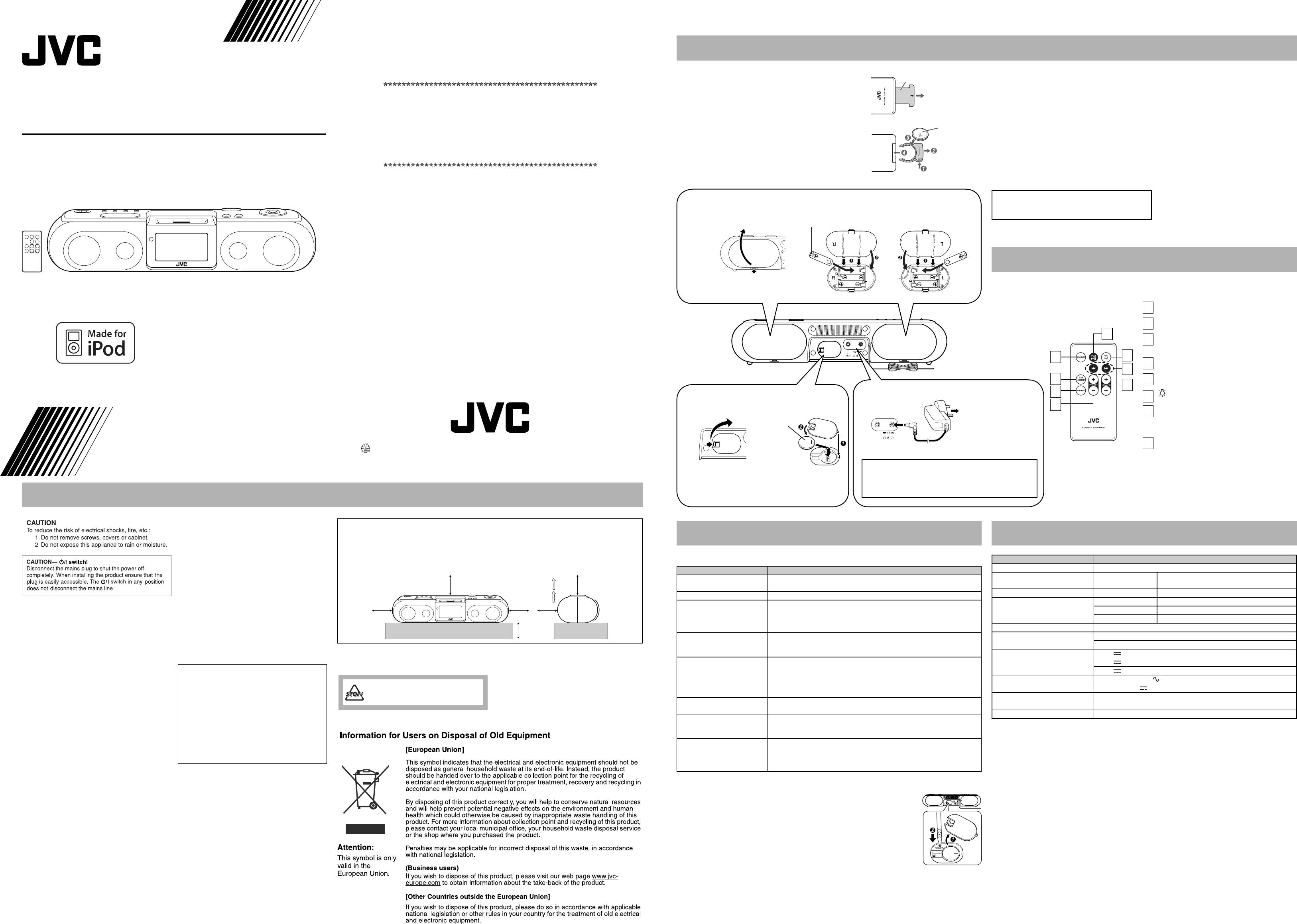Handleiding jvc ra p11 pagina 1 van 2 english buycottarizona