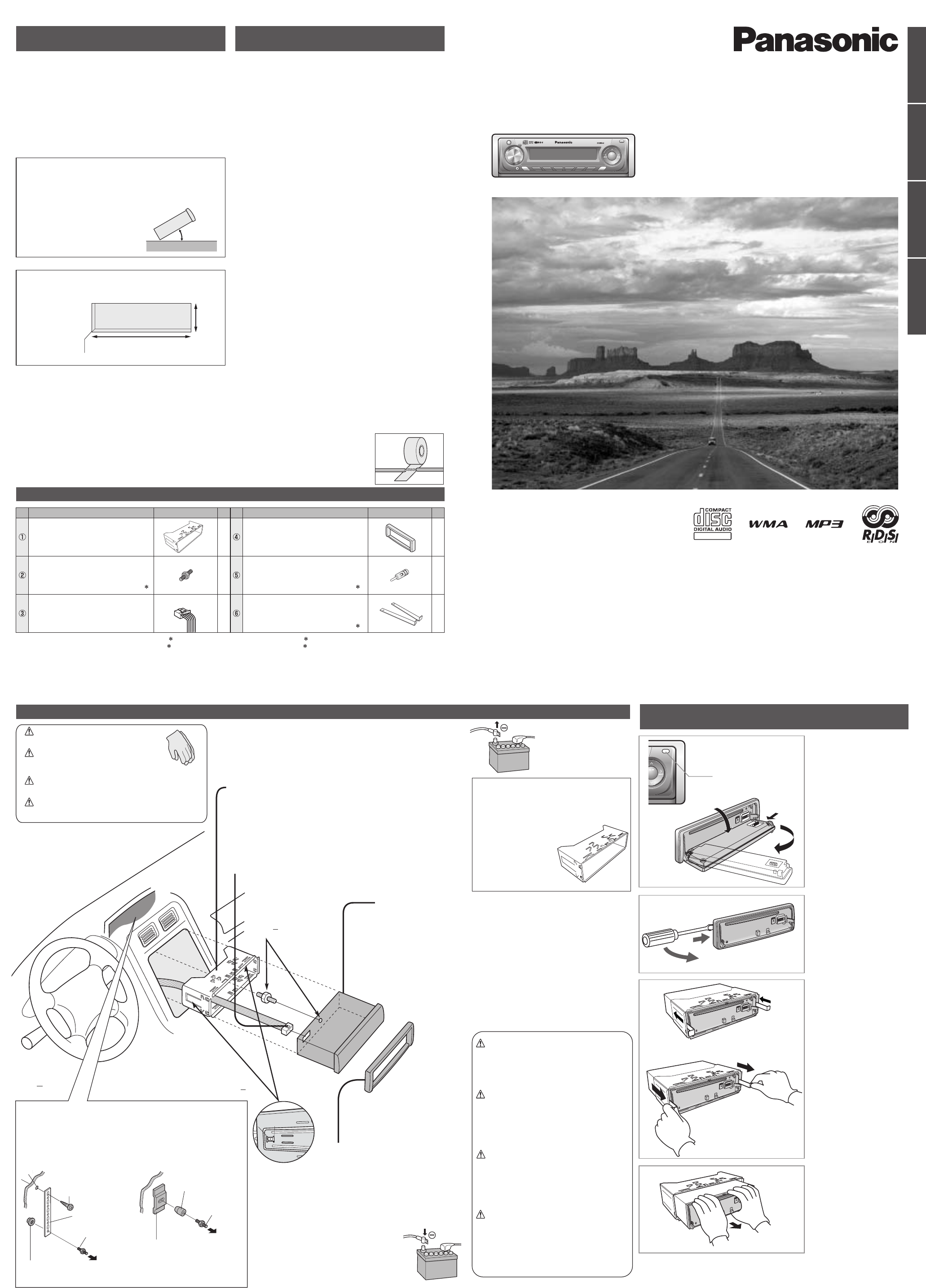 Handleiding Panasonic cq-c3301 (pagina 41 van 42) (Nederlands)