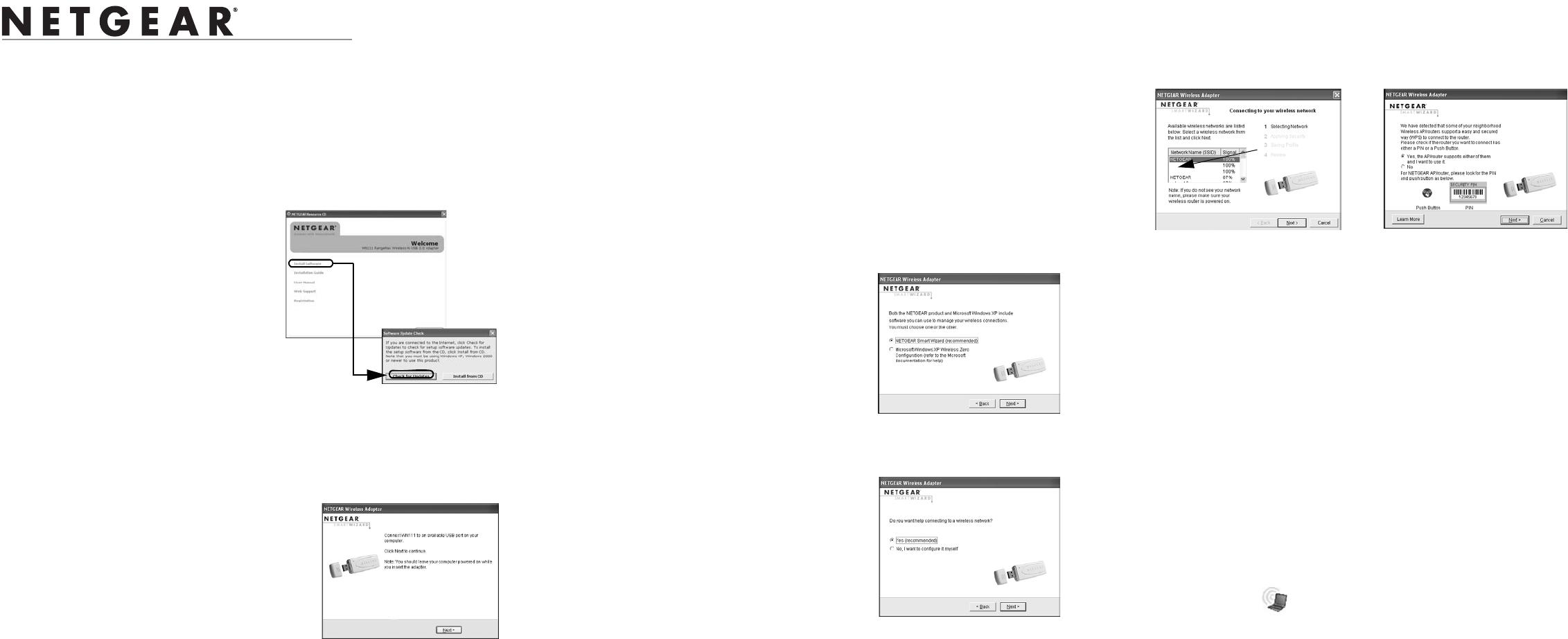 Handleiding Netgear WN111v2 (pagina 1 van 2) (English)