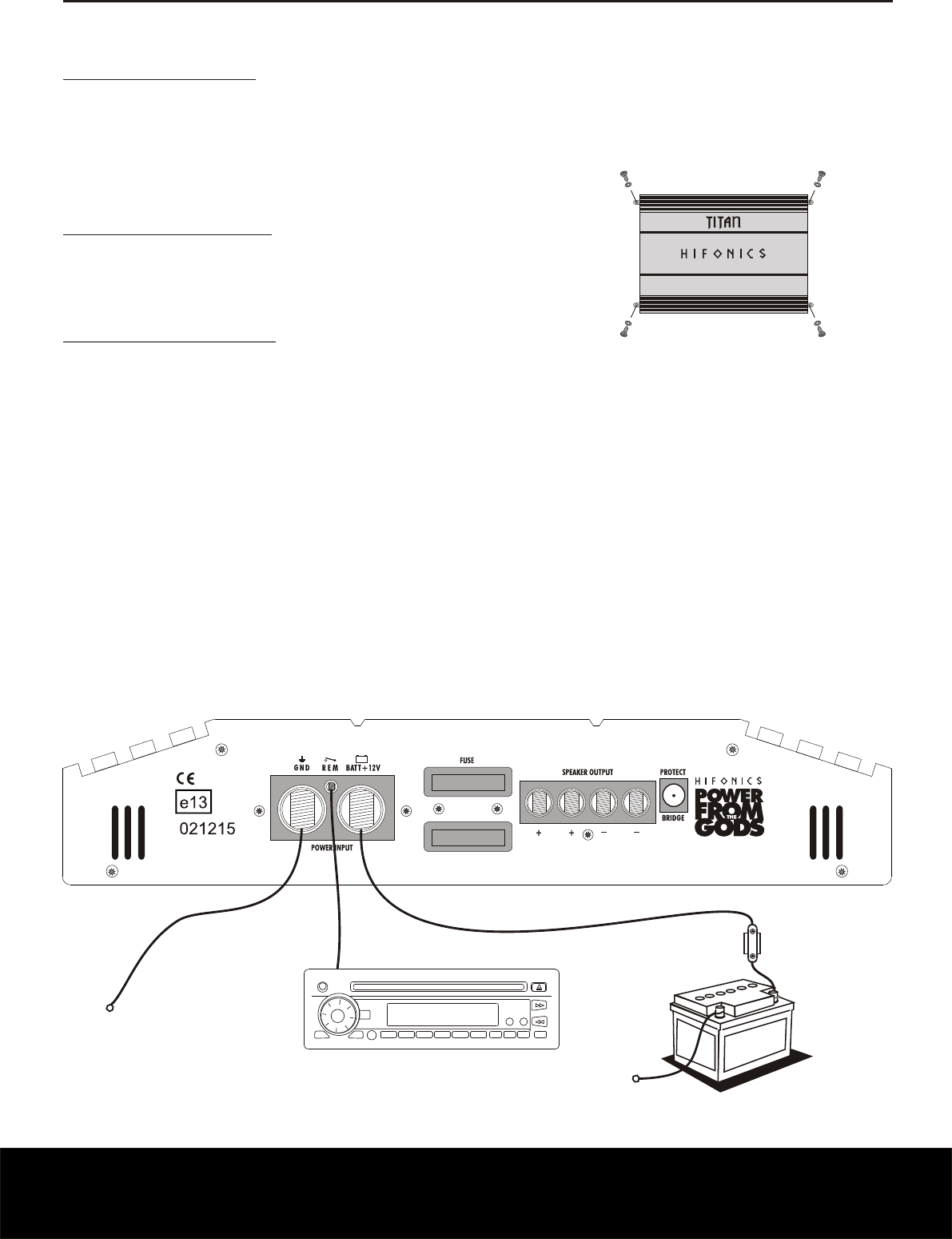 Wiring Diagram For Hifonics Amp