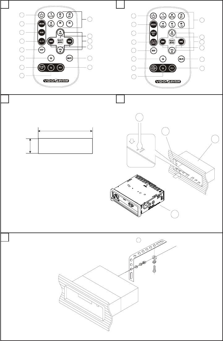Handleiding vdo dayton cd 1327 (pagina 4 van 18) (english).