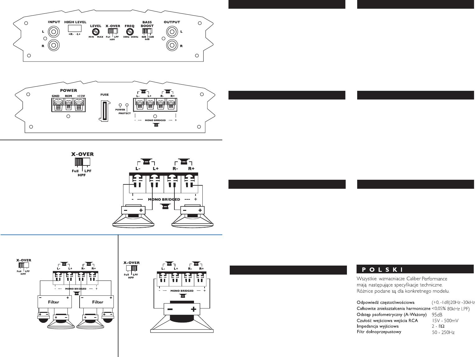 Handleiding Caliber ca 110 2 (pagina 1 van 13) (Deutsch, English ...