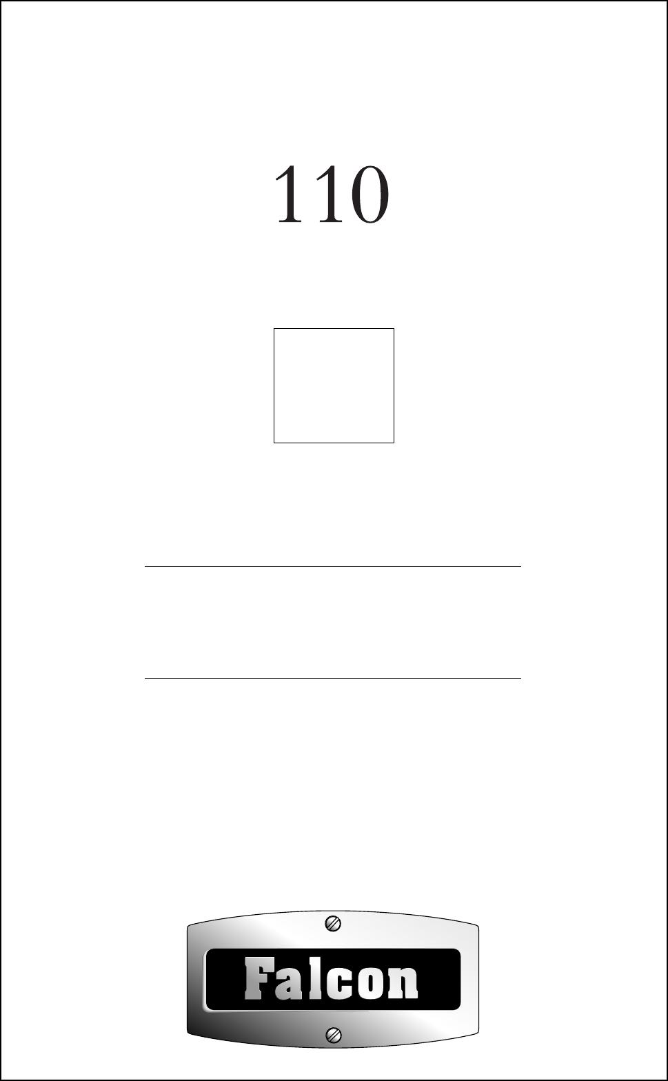 Handleiding Falcon Excel 110 (pagina 1 van 60) (Deutsch, English)