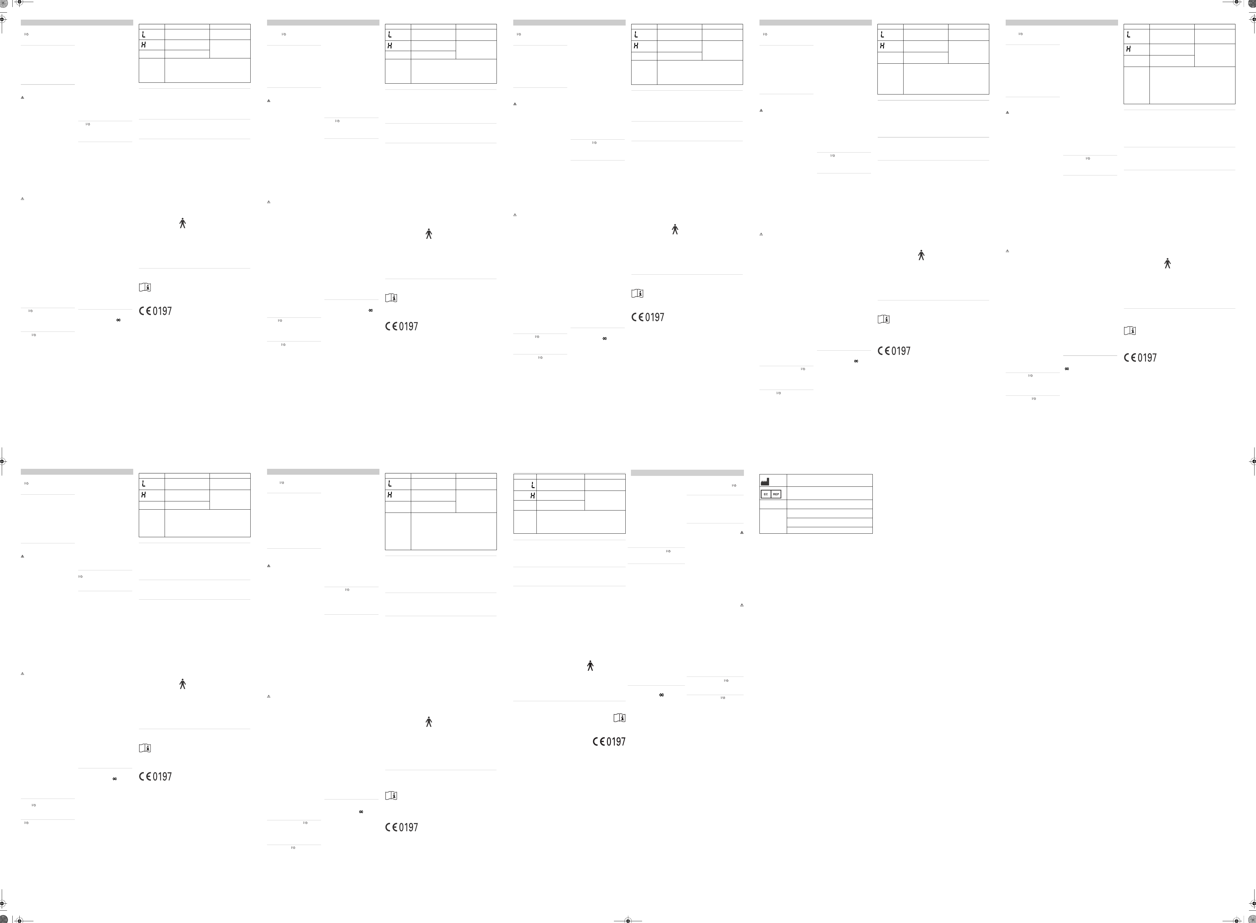 Handleiding Omron Mc 246 E Eco Temp Basic Pagina 1 Van 2 Dansk Thermometer Digital A