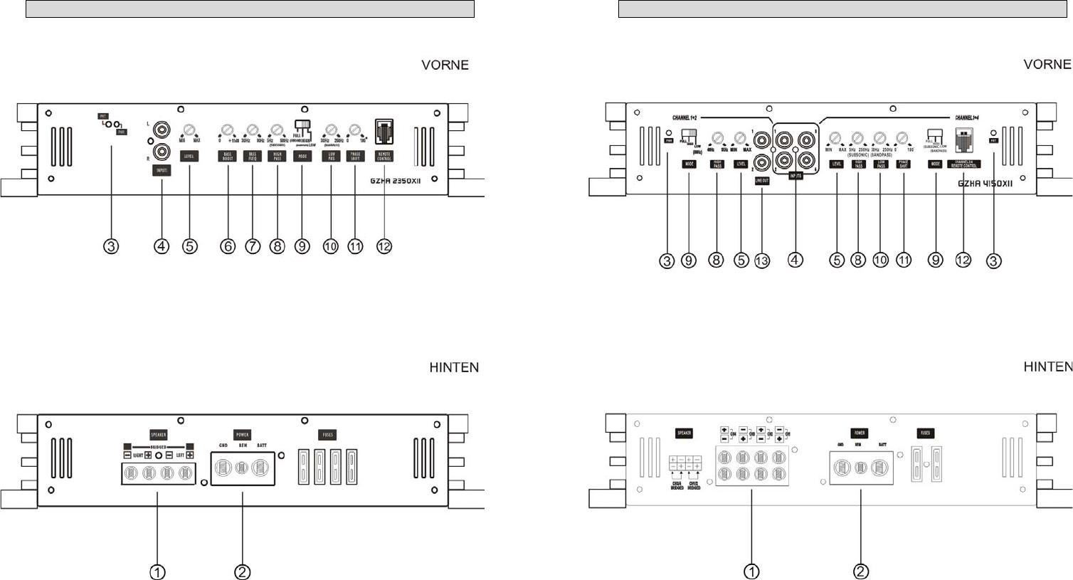 Handleiding Ground zero GZHA 4150 X (pagina 15 van 48) (Deutsch)