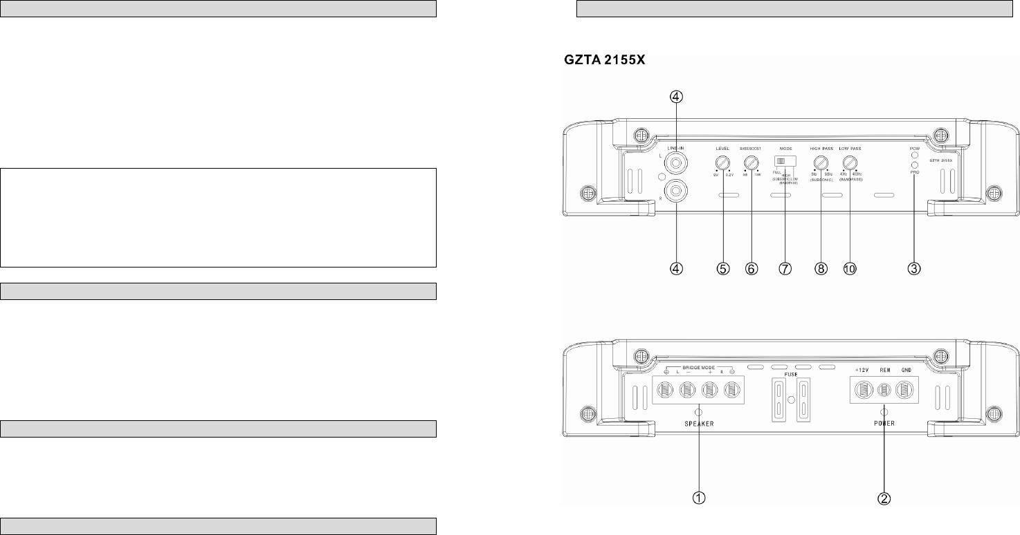 Handleiding Ground zero GZTA 2255X (pagina 11 van 44) (Deutsch)