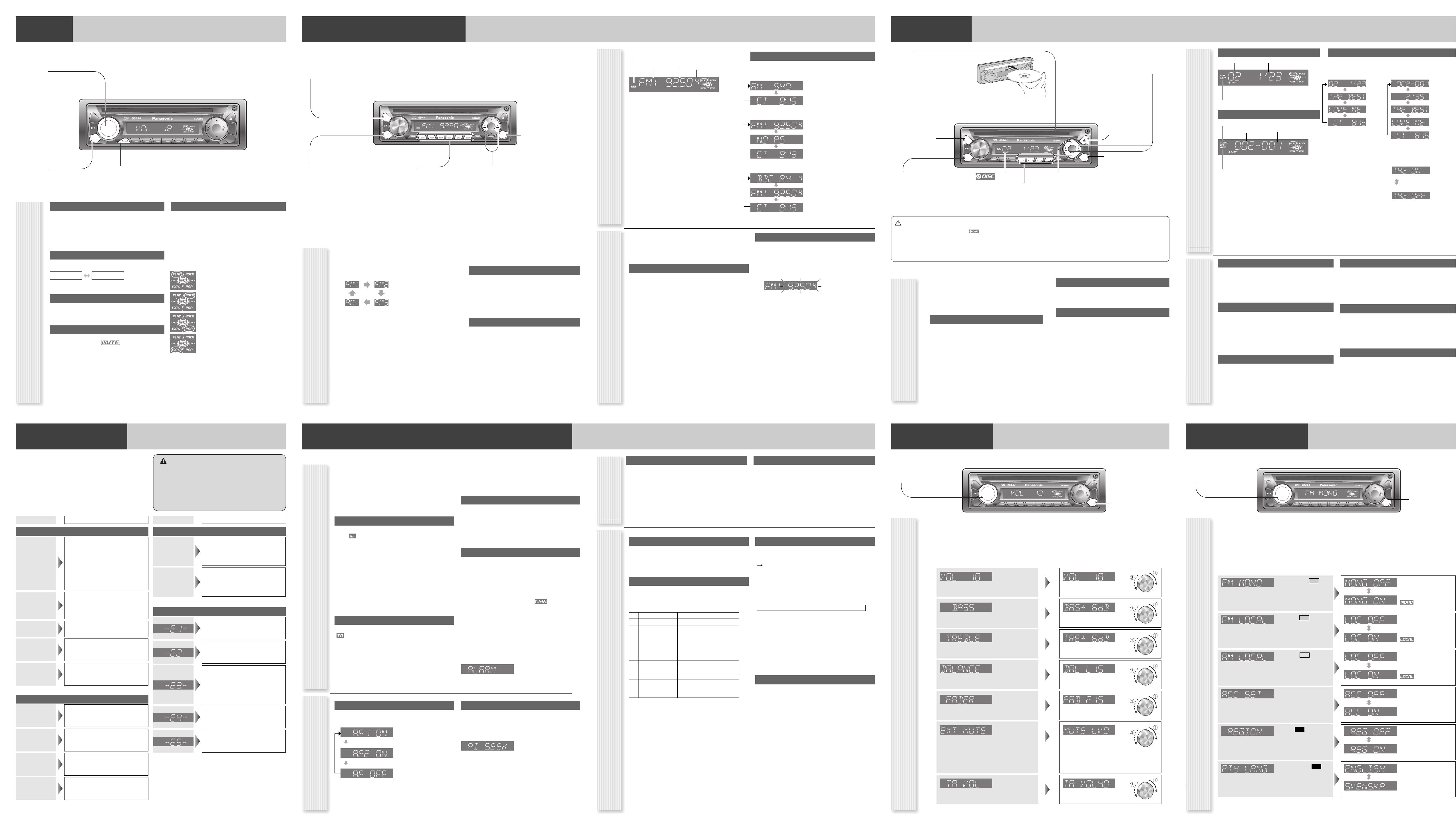 Handleiding Panasonic cq-c1312 (pagina 1 van 4) (English)
