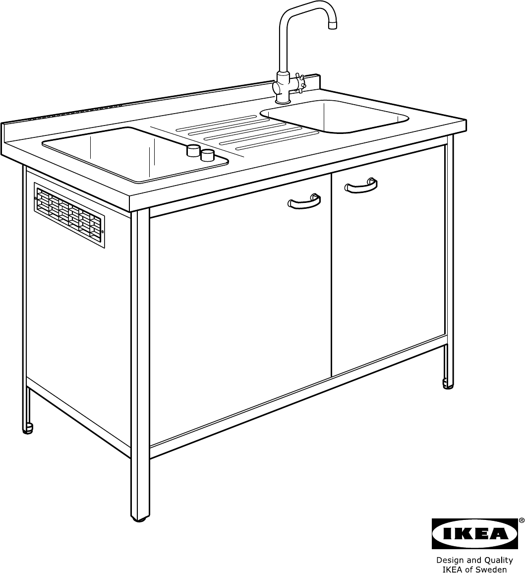 Handleiding ikea attityd kitchenette pagina 1 van 36 dansk deutsch english espan l - Ikea kitchenettes ...