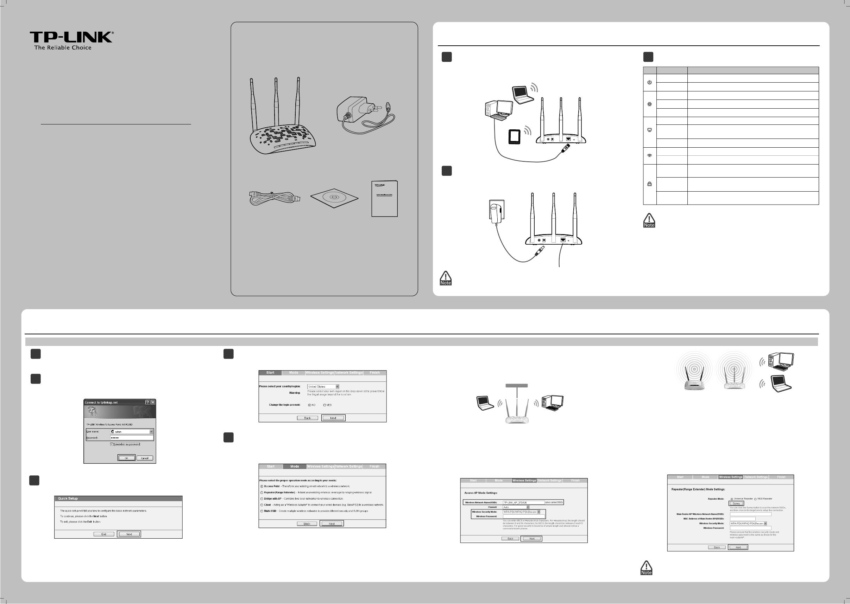 Handleiding TP-LINK TL-WA901ND (pagina 1 van 2) (English)