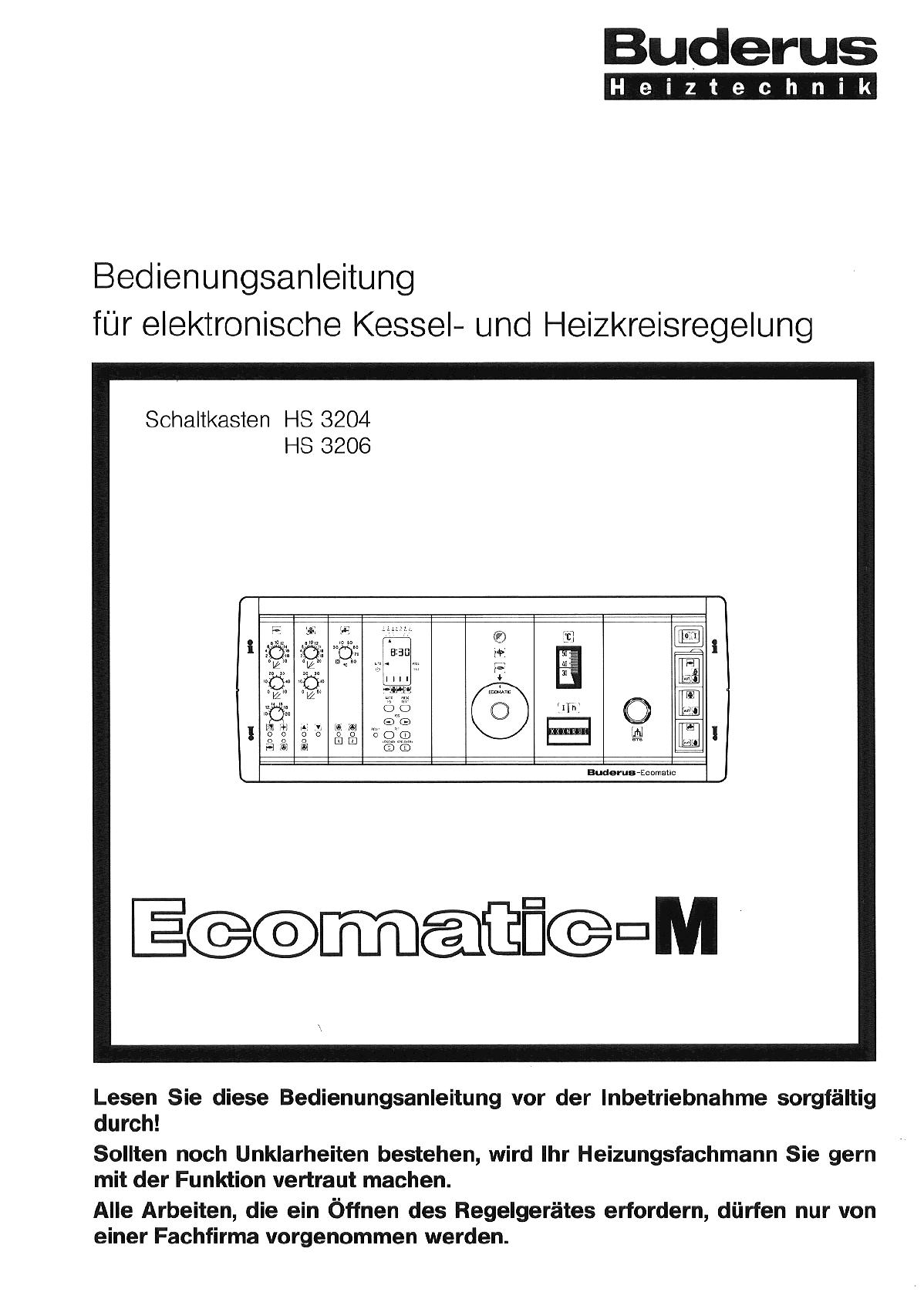 Buderus ecomatic 4000