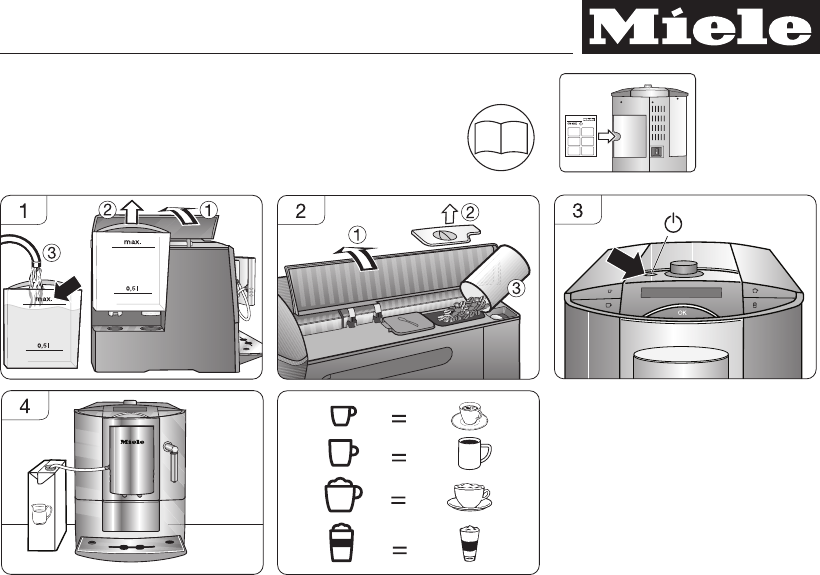 handleiding miele cva 6401 pagina 1 van 4 deutsch. Black Bedroom Furniture Sets. Home Design Ideas