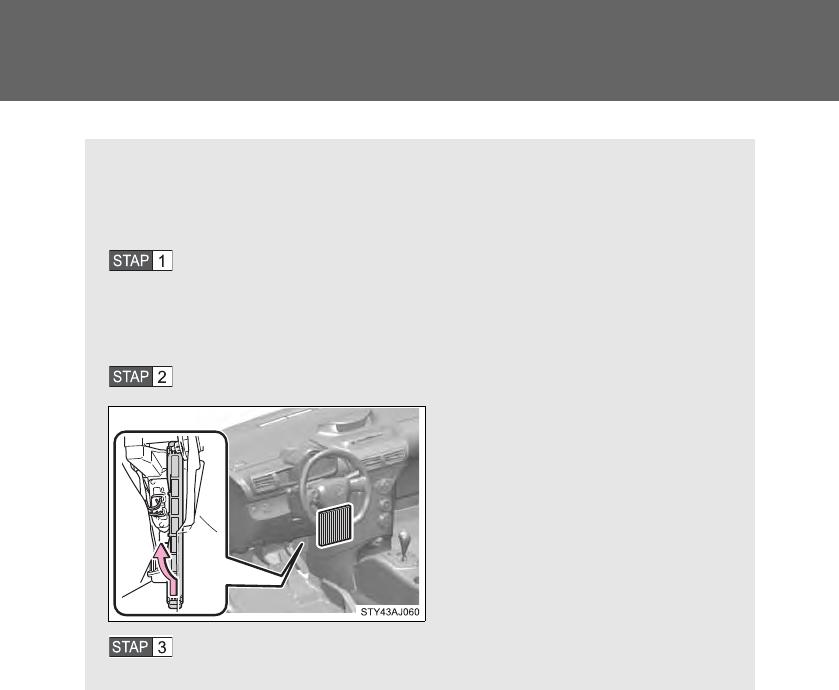 Handleiding toyota iq pagina 337 van 474 nederlands for Interieur filter