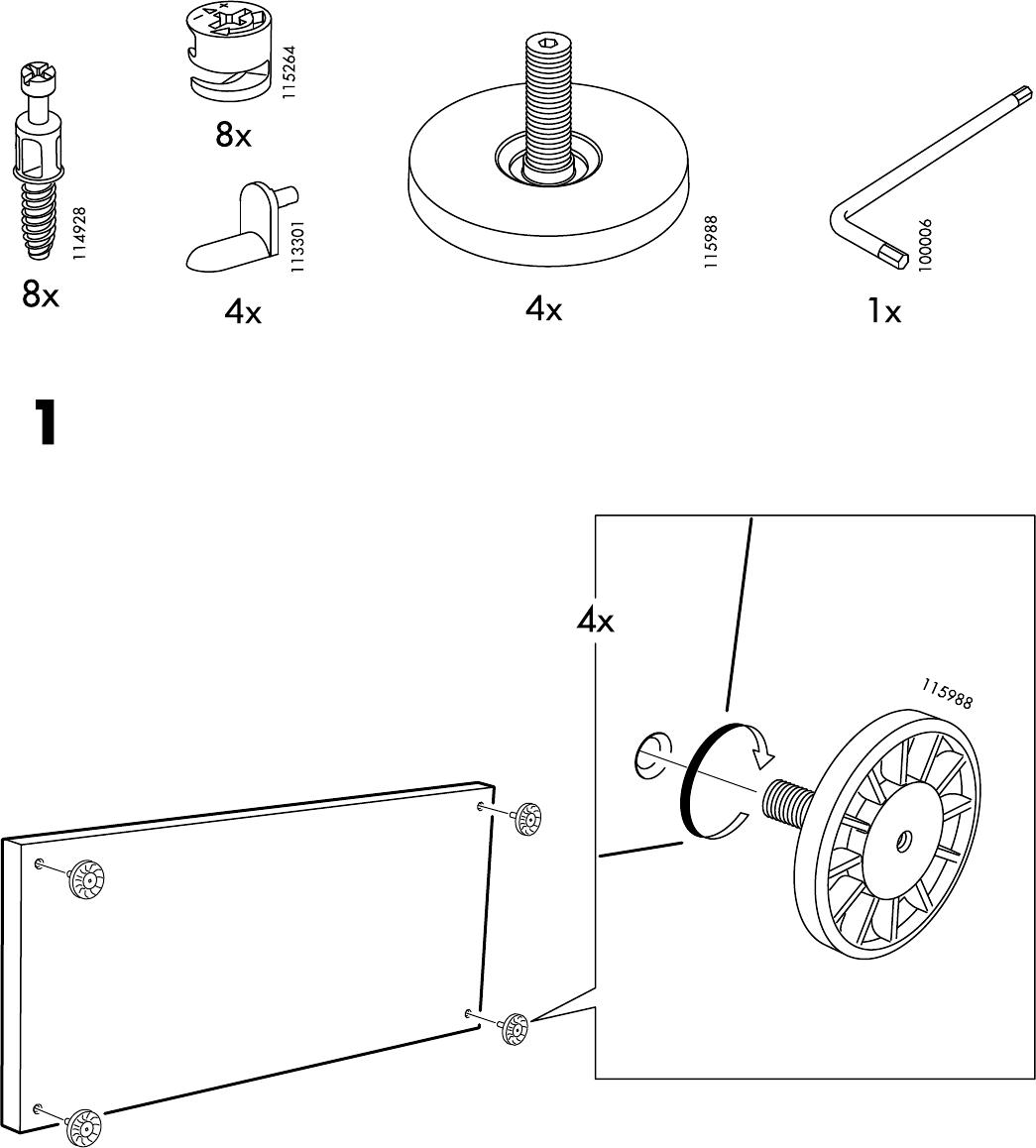 Ikea Mosjo Tv Meubel.Handleiding Ikea Mosjo Tv Meubel Pagina 3 Van 8 Alle Talen