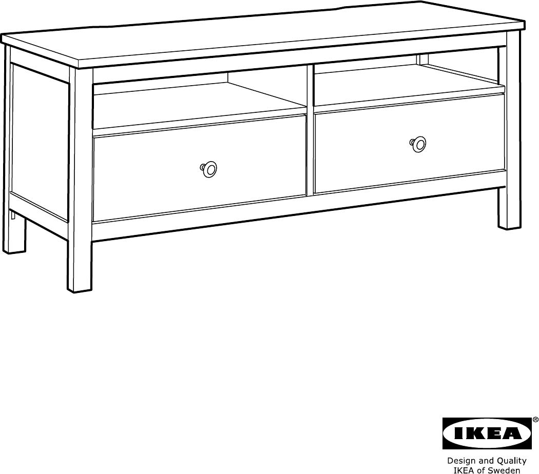 Handleiding Ikea Hemnes Tv Meubel Pagina 1 Van 36 Alle Talen