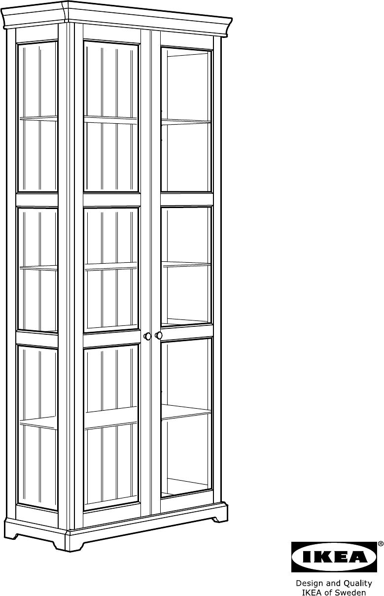 Handleiding Ikea Liatorp Vitrinekast Pagina 1 Van 24 Alle
