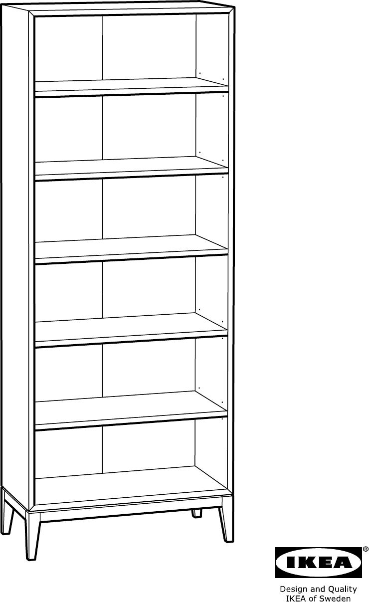 Handleiding Ikea REGISSOR Boekenkast (pagina 1 van 16) (Alle talen)
