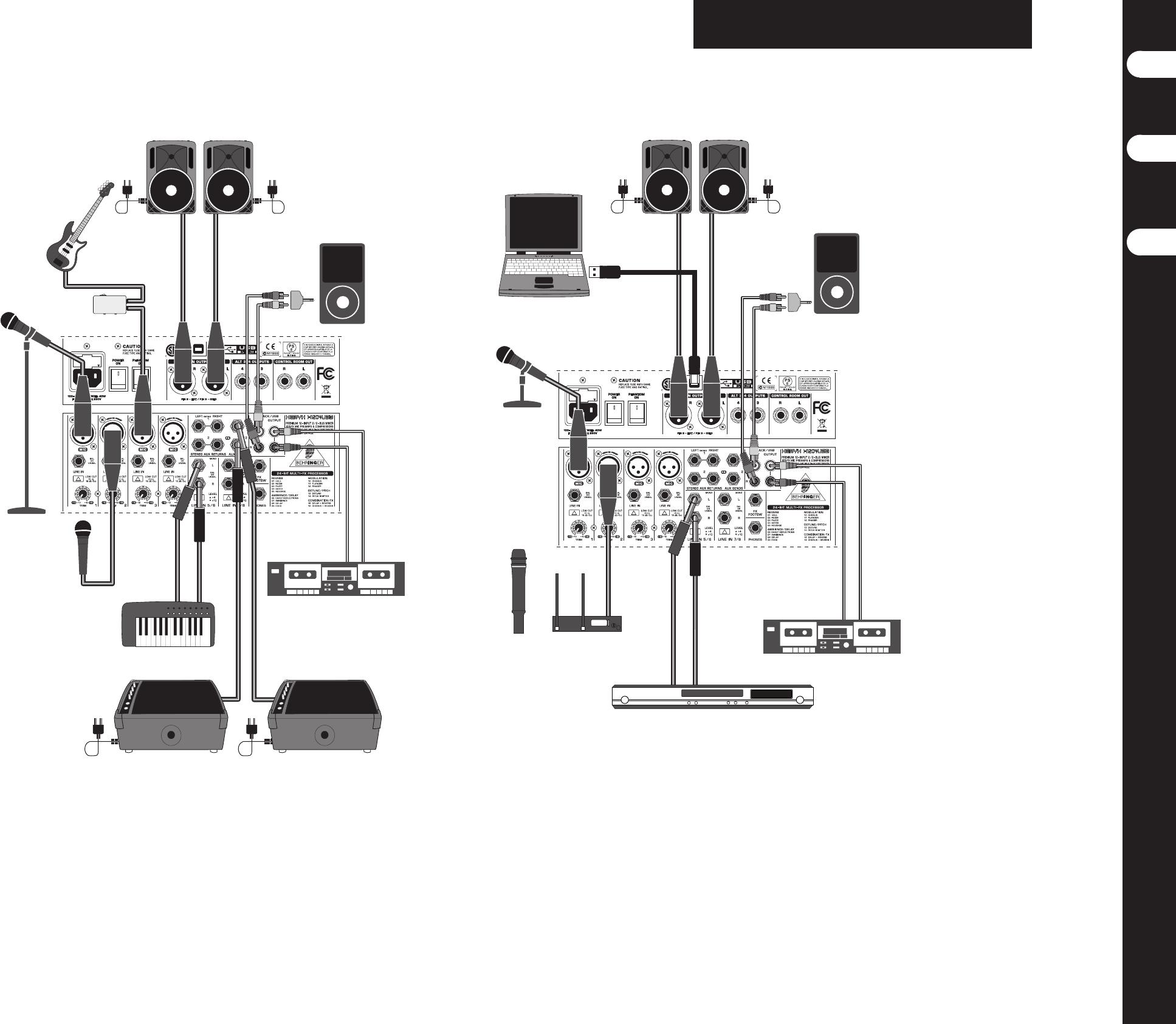 Handleiding Behringer Xenyx X1204USB (pagina 6 van 14) (English, Espanõl,  Français)