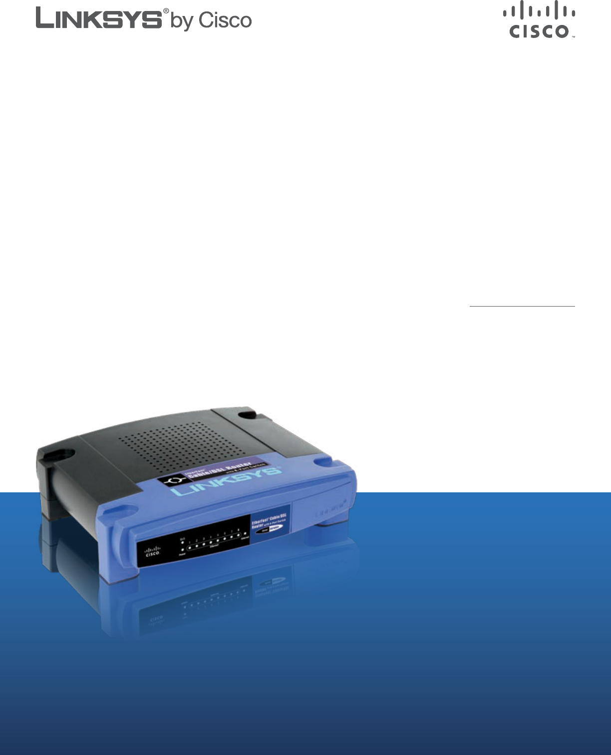Handleiding Linksys Befsr81 Etherfast Cable Dsl Router Pagina 1 Van