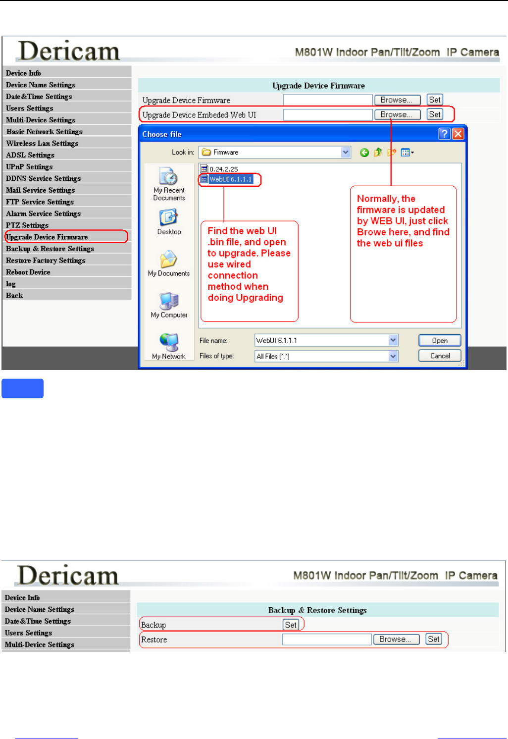 Handleiding Dericam M801W - Indoor Pan-Tilt-Zoom IP Camera