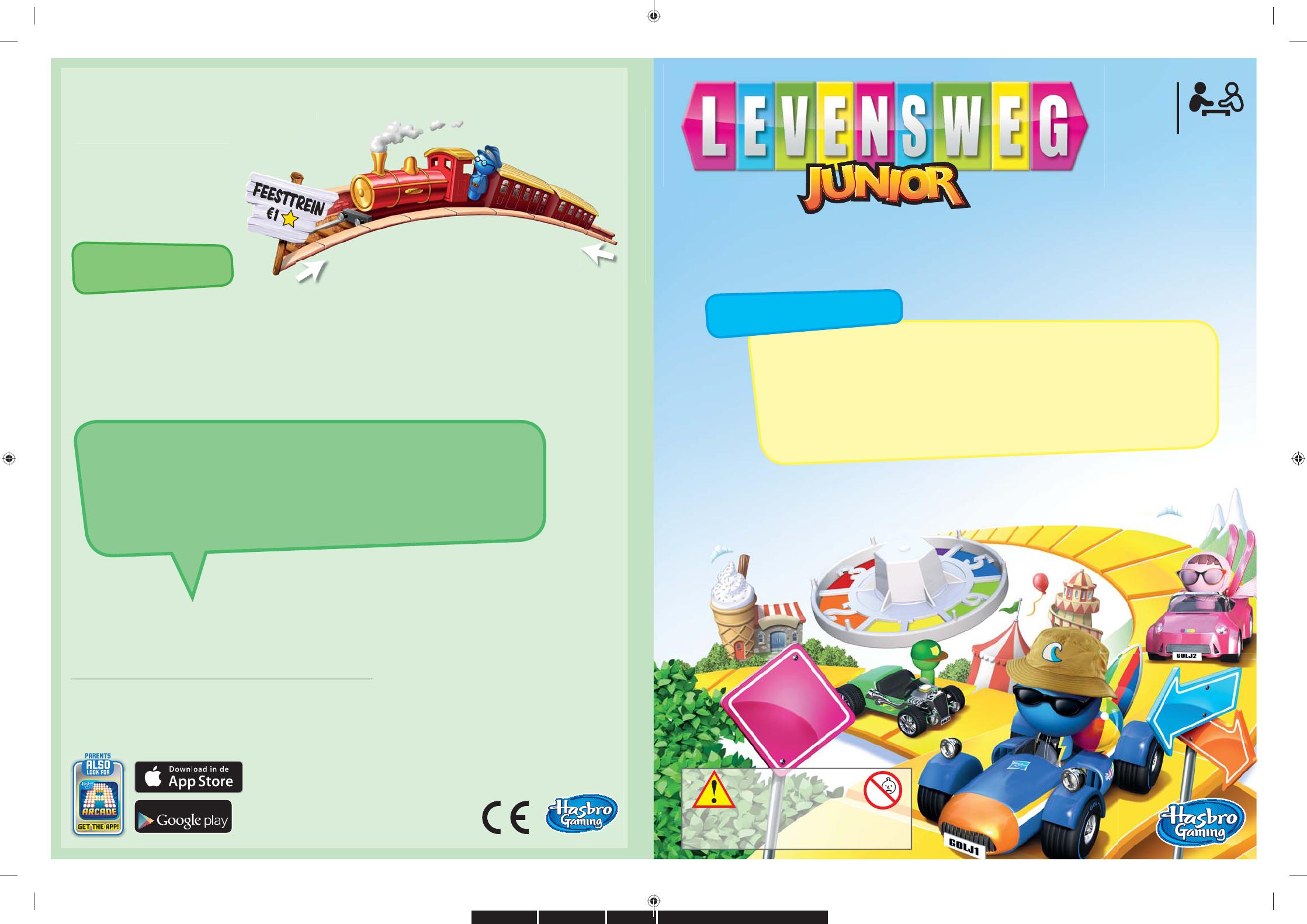 Handleiding Hasbro Levensweg Junior Pagina 1 Van 2 Nederlands