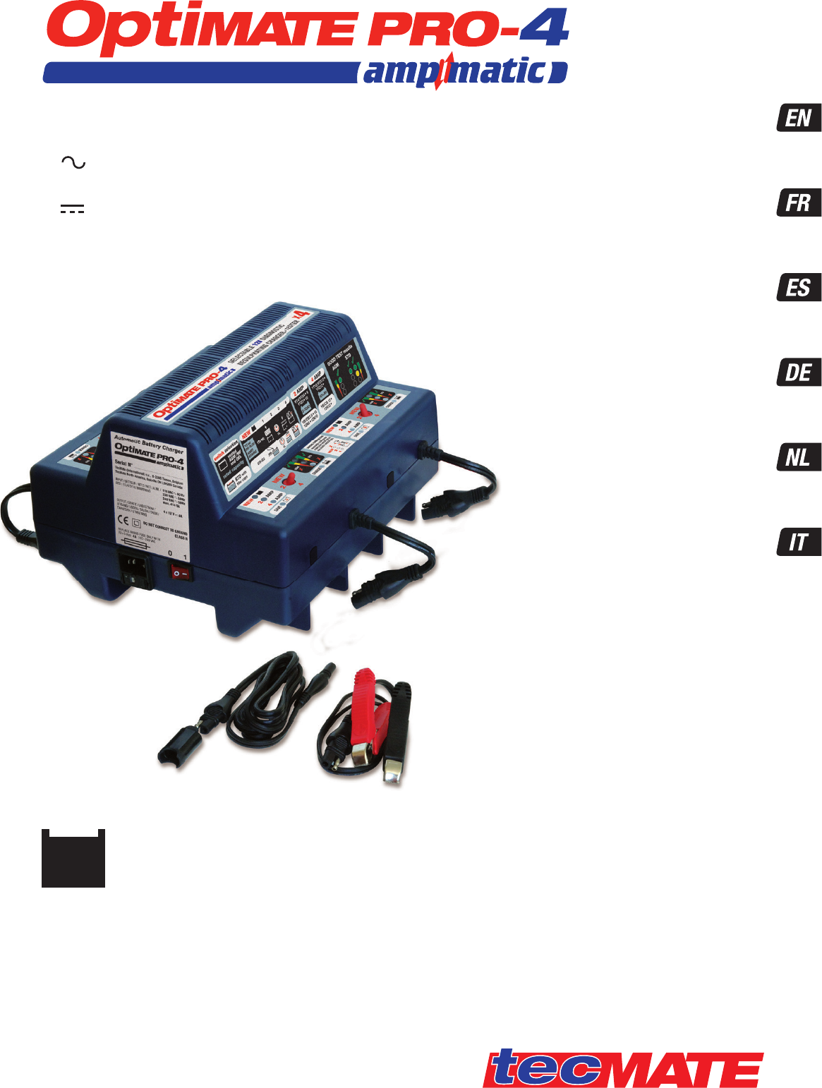 Handleiding Tecmate Optimate Pro 4 Ts52 Pagina 1 Van 8 Deutsch