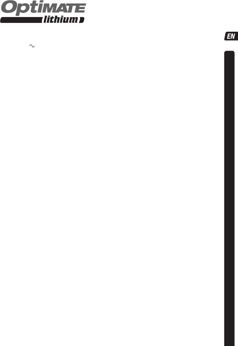 Handleiding Tecmate Optimate Lithium Tm291 Pagina 5 Van 52
