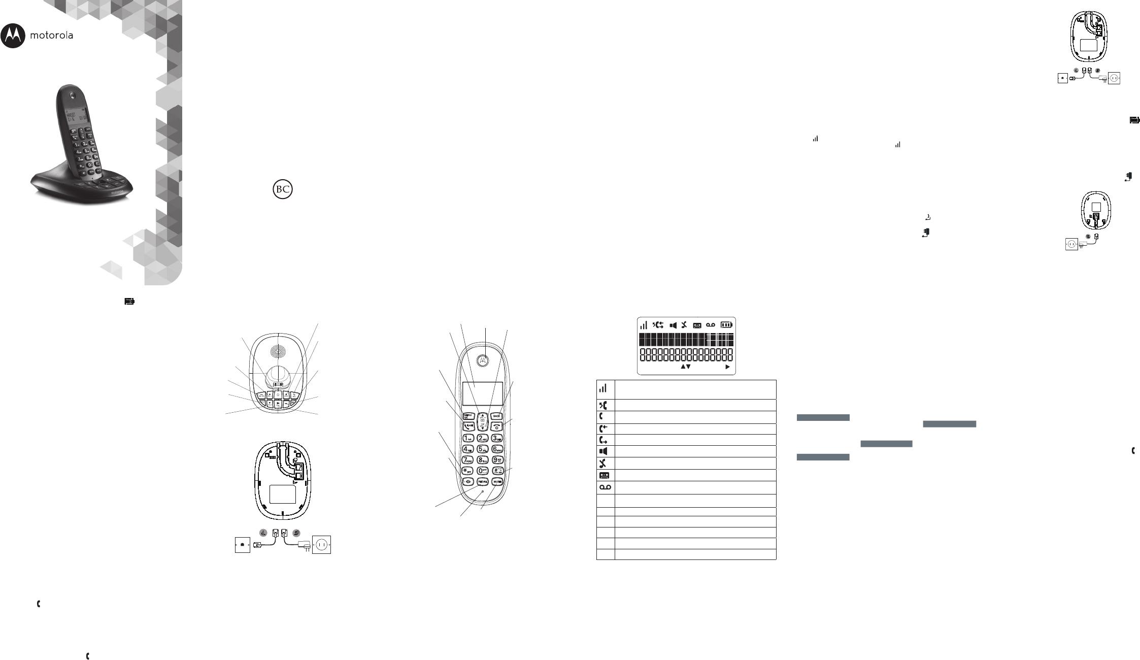 Handleiding Motorola C1012LX (pagina 2 van 2) (Espanõl)