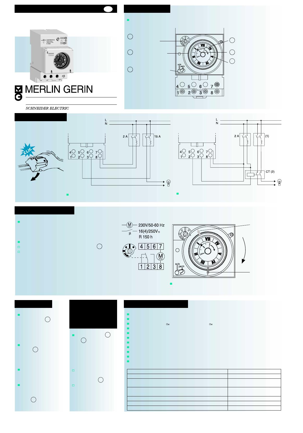 Handleiding Schneider Electric Merlin Gerin Multi 9 Ih 15367  Pagina 1 Van 1   English
