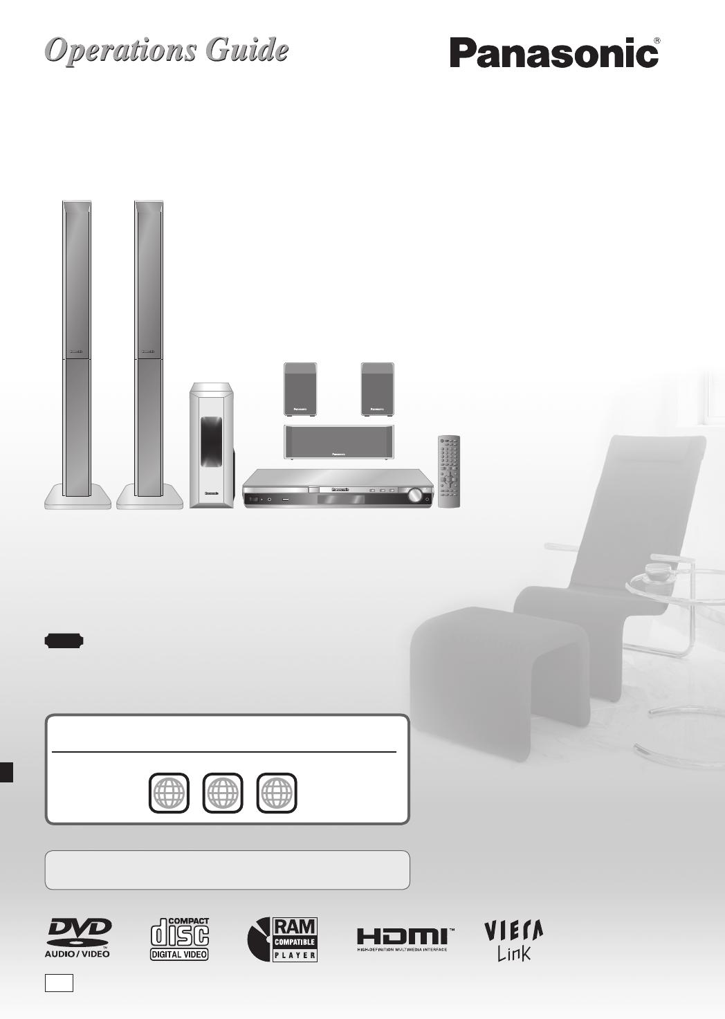Panasonic sa-pt550 sa-pt850 sa-pt850w home theater system.