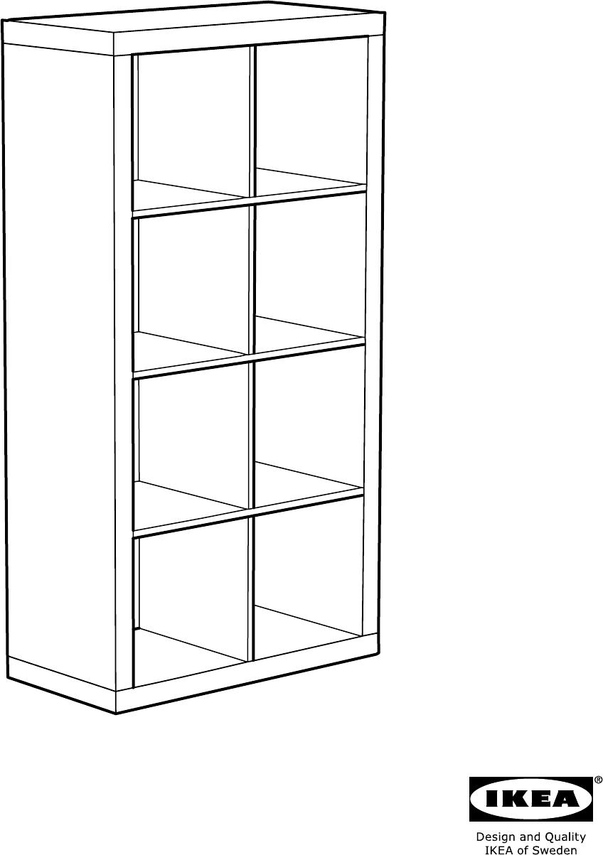 Handleiding Expedit Boekenkast.Handleiding Ikea 802 758 87 Kallax Open Kast Pagina 1 Van 24 Alle