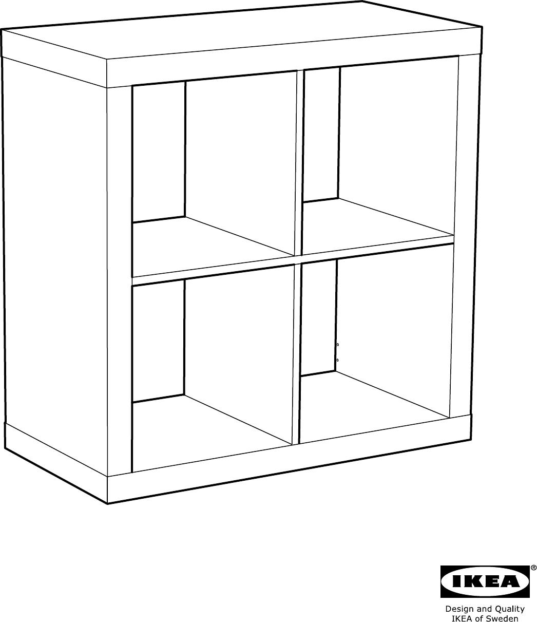 Handleiding Ikea 40275813 Kallax Open Kast Pagina 1 Van