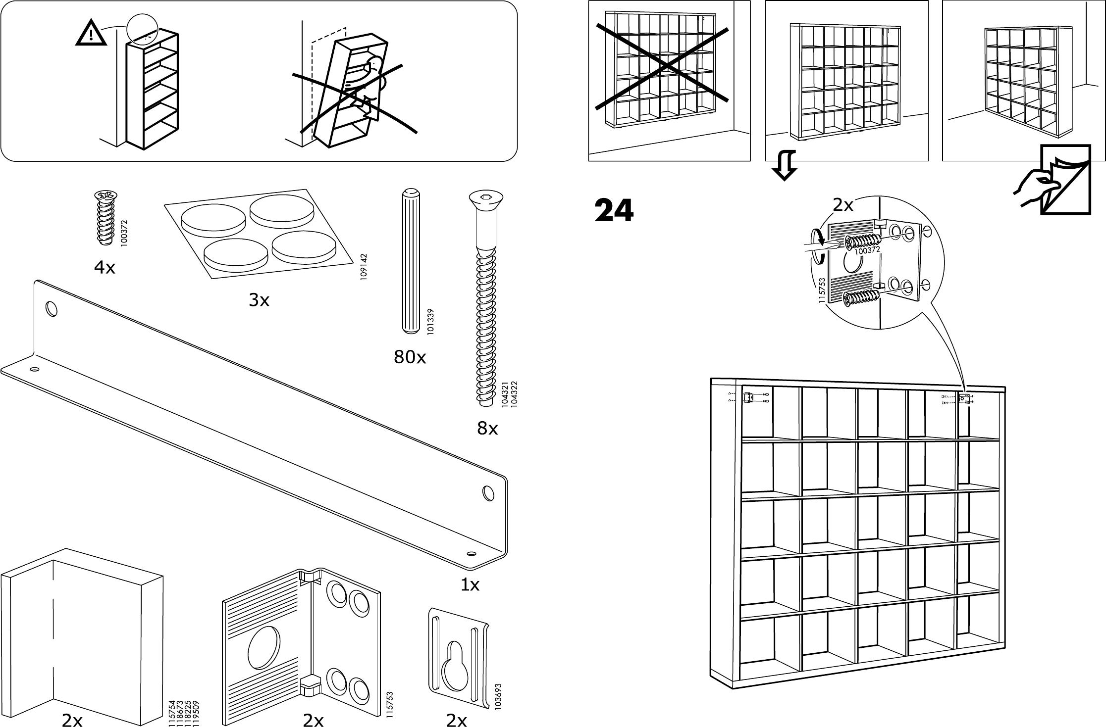 Handleiding Ikea 70301537 Kallax Open Kast Pagina 3 Van