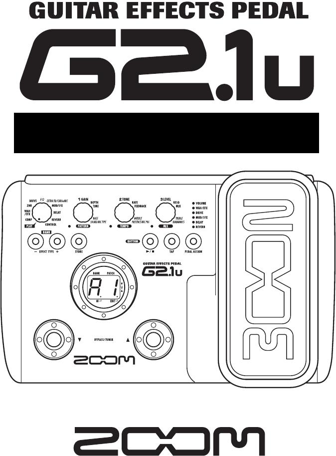 Zoom G2 Manual Download