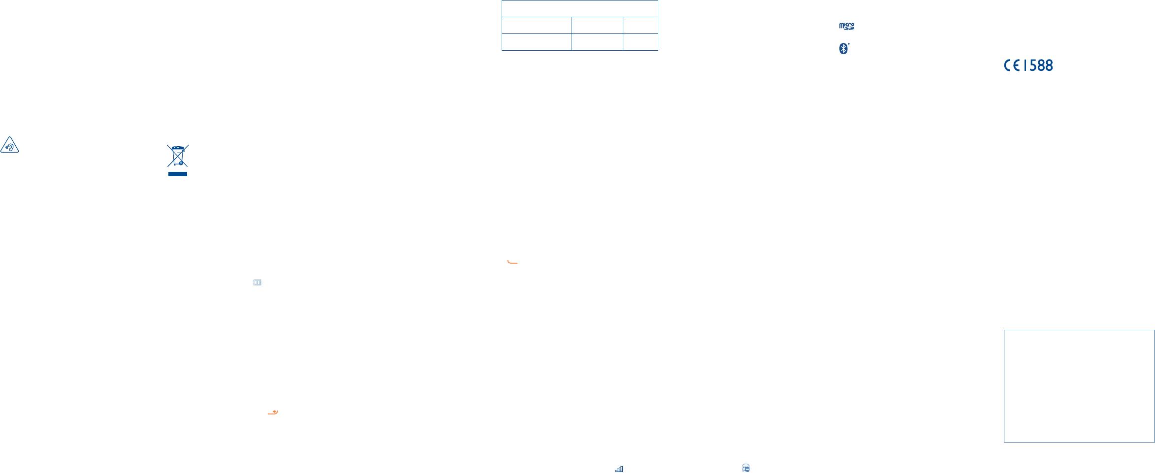 Handleiding Alcatel 2051d Pagina 1 Van 2 Nederlands 19