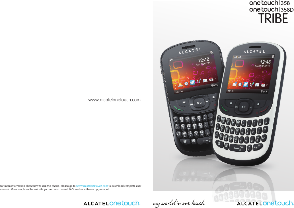 Handleiding Alcatel One Touch 358D - Tribe (pagina 1 van 35) (English)