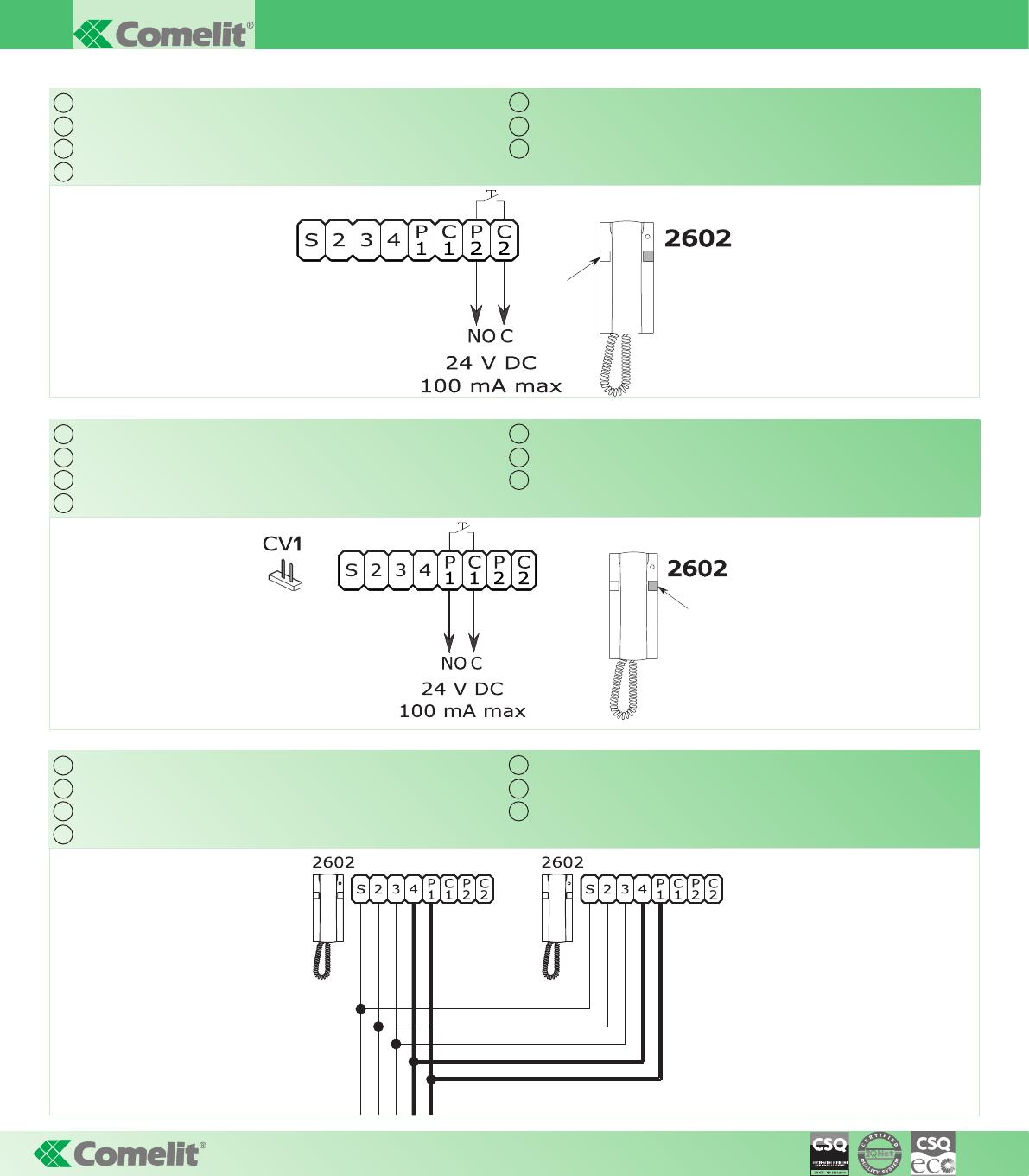 Handleiding Comelit 8274 Ft Kit 16 Audio Kit Pagina 1 Van 4